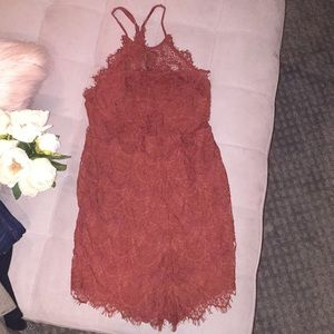 Free people rust color dress size S
